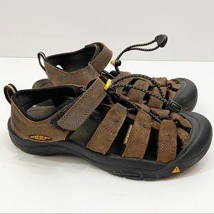 KEEN Waterproof Sandals Brown Tan Boys 4